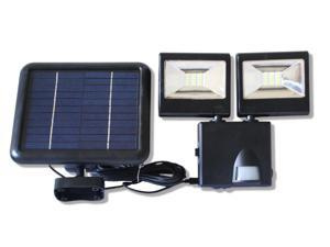 1000 Lumens Solar Powered Dual Heads Outdoor Motion Sensor Security Flood Light