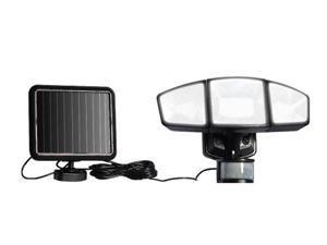 Triple-head Solar Powered Motion Sensor Security  Flood Light