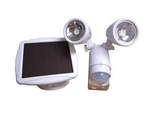 Solar Powered Dual Heads Motion Sensor Security Light Garage Outdoor SMD-LED