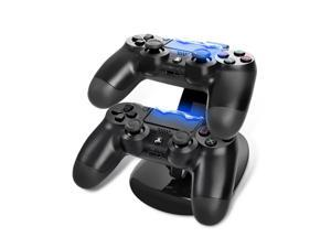 Deluxe Dual Handles USB Chargers Dock Cradle Station Stand For PS4 Play Station 4 Game Gaming Controller Charger