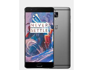 OnePlus Three 3 A3000 Factory Unlocked 5.5'' AMOLED Display 6GB RAM 64GB Internal 16MP Camera Phone - Graphite - International Version