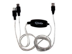 THZY MIDI USB IN-OUT Interface Cable Cord Converter PC to Music Keyboard Adapter