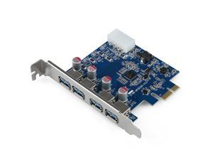 THZY 4-Port SuperSpeed USB 3.0 PCI-E PCI Express Card with 4-pin IDE Power Connector NEC uPD720201