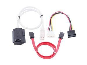 THZY SATA/PATA/IDE Drive to USB 2.0 Adapter Converter Cable for 2.5 / 3.5 Inch Hard Drive with External AC Power Adapter