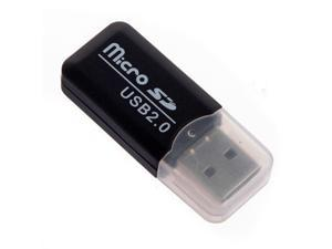 THZY 5x Mini drive USB 2.0 Memory Card Reader Adapter Stick Micro SD TF Card Reader black