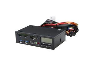 "THZY 5.25"" USB 3.0 e-SATA All-in-1 PC Media Dashboard Multi-function Front Panel Card Reader I/O Ports"