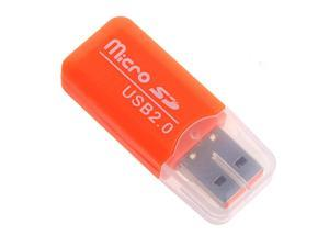 THZY 5x Mini drive USB 2.0 Memory Card Reader Adapter Stick Micro SD TF Card Reader orange