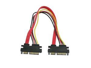 THZY 7+15 SATA Male to Male Plug Hard Drive Power Cable Converter for PC