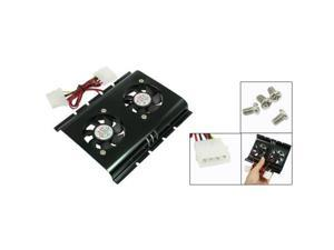 THZY Black 3.5 SATA IDE Hard Disk Drive HDD 2 Fan Cooler for PC