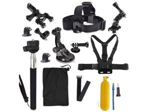 GoPro accessories 13 in 1 Set Family Kit Go Pro SJ4000 SJ5000 SJ6000 accessories package for GoPro