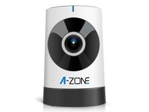 A-ZONE Mini Wireless Camera 185 Degree Baby Monitor 720P HD WiFi Video Monitoring Surveillance Camera with Night Vision, Two Way Audio  Play & Plug