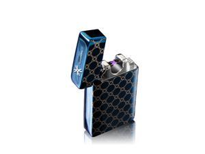 Powerful 800mAh battery dual X beam electronic pulse arc lighter,cigarette usb lighter,electrik arc lighter without fuel or gas with free personalization service