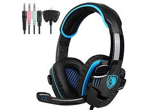 SADES SA 708GT Version Stereo Gaming Headset Over Ear Computer Headphone with Mic For PC/Mac/PS4/iPad
