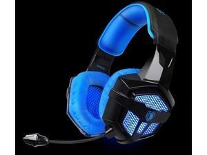 SADES SA806  Gaming headset USB 3.5mm Professional Stereo Headphone with Microphone Blue Led Lighting Headsets  for Laptop PC PS4 Mac