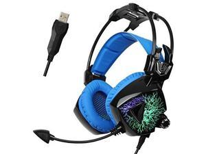 Sades Mo Ling USB Gaming Headset 7.1 Virtual Surround Sound Stereo PC Headphones with Mic