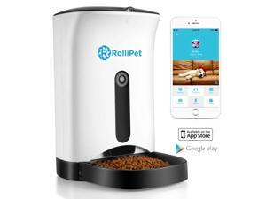 RolliPet Smart Pet Feeder Smart Camera Remote Pet Feeding HD Camera 2 Way Audio Mobile Feeder RT-PF-10 720P