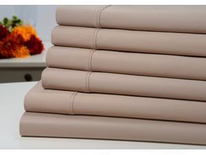 Bibb Home 1000 Thread Count Cotton Rich 6 Piece Solid Sheet Set  with Deep Pocket - 6 Colors