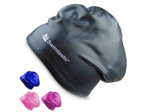 Swimtastic - Long Hair Swim Cap - Specially Designed for Swimmers with Long, Thick, or Curly Hair