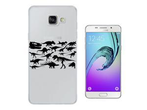Samsung Galaxy A9 Pro (2016) Gel Silicone Case All Edges Protection Cover C0332 - Cool Fun Dinosaur Skeleton Bones Fossils T-Rex Spinosaurus Triceratops Stegosaurus
