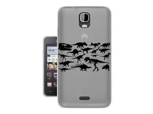 Huawei Ascend Y3 /Y360 336 Gel Silicone Case All Edges Protection Cover c0332 - cool fun dinosaur skeleton bones fossils t-rex spinosaurus triceratops stegosaurus