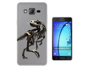 C0748 - Scary T-Rex Tyrannosaurus Bones Fossil Design Samsung Galaxy On5 Pro Fashion Trend CASE Gel Rubber Silicone All Edges Protection Case Cover