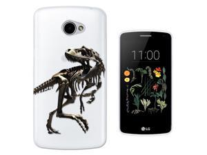 LG K5 Gel Silicone Case All Edges Protection Cover C0748 - Scary T-Rex Tyrannosaurus Bones Fossil