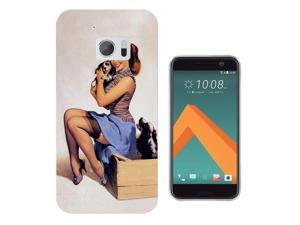 htc 10 Gel Silicone Case All Edges Protection Cover 686 - Vintage Pin Up Girl Sexy