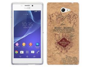 Sony Xperia M2 Gel Silicone Case All Edges Protection Cover 446 - The Marauder's Map