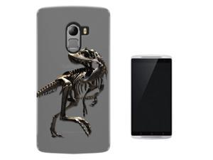 "Lenovo X3 Lite 5.5"" Gel Silicone Case All Edges Protection Cover C0748 - Scary T-Rex Tyrannosaurus Bones Fossil"