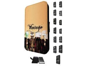 Samsung Galaxy Note 4 Flip Case Cover Book Style Tpu case 1556 - Trendy tv head radio head music vintage retro clothing fashion