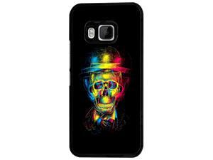 htc One M8 Coque Fashion Trend Case Coque Protection Cover plastique et métal - Black 1483 - Trendy skull x-ray colourful skull tattoo