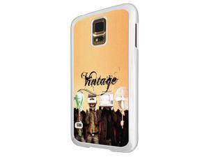 Samsung Galaxy S5 i9600 Coque Fashion Trend Case Coque Protection Cover plastique et métal - White 1556 - Trendy tv head radio head music vintage retro clothing fashion