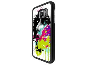 Samsung Galaxy S7 G930 Coque Fashion Trend Case Coque Protection Cover plastique et métal - Black 840 - Colourful Face Painting Fun