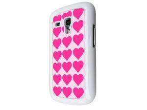 Samsung Galaxy S3 Mini Coque Fashion Trend Case Coque Protection Cover plastique et métal - White 1410 - Trendy kwaii valentines day heart love quote pink hearts collage