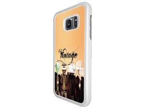 Samsung Galaxy S7 G930 Coque Fashion Trend Case Coque Protection Cover plastique et métal - White 1556 - Trendy Tv Head Radio Head Music Vintage Retro Clothing Fashion