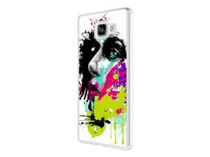 Samsung Galaxy A5 (2016) SM-A510F Coque Fashion Trend Case Coque Protection Cover plastique et métal - White 840 - Colorful face painting Fun