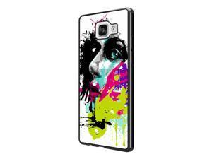 Samsung Galaxy A3 (2016) SM-A310F Coque Fashion Trend Case Coque Protection Cover plastique et métal - Black 840 - Colorful face painting Fun