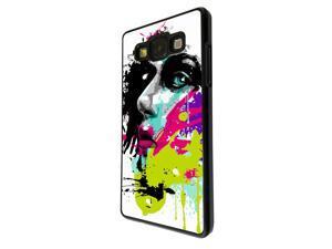 Samsung Galaxy J5 Coque Fashion Trend Case Coque Protection Cover plastique et métal - Black 840 - Colorful face painting Fun
