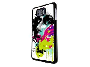 840 - Colorful face painting Design Samsung Galaxy APLHA Hard Plastic Case Back Cover - Black