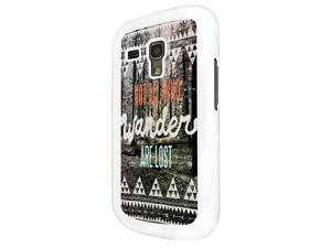 331 - Atec Pattern Quote Not All Who Wonder are lost Design Samsung Galaxy S3 Mini Hard Plastic Case Back Cover - White
