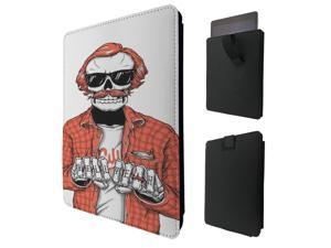 """ipad pro 12.9"""" / Macbook Air 11 / Macbook retina 12 Quality Pouch portefeuille Poche Coque  Case - Tab sortieC0491 - Cool Trendy Hell Yeah Skull Biker Tattoo Cool"""