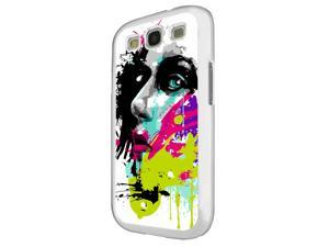 840 - Colorful face painting Design Samsung Galaxy S3 i9300 Hard Plastic Case Back Cover - White