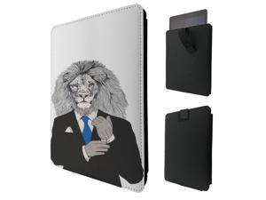"ipad pro 12.9"" / Macbook Air 11 / Macbook retina 12 Quality Pouch portefeuille Poche Coque  Case - Tab sortie1078 - Cool Lion Head Boss Man Suit Inspiration Success Tie Main Man Nature"