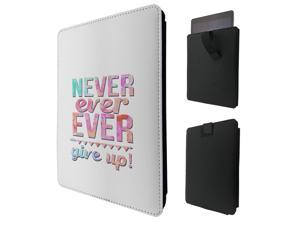 """ipad pro 12.9"""" / Macbook Air 11 / Macbook retina 12 Quality Pouch portefeuille Poche Coque  Case - Tab sortieC0642 - Cool Inspirational Quote Pink Never Ever  Give Up"""