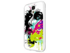 840 - Colorful face painting Design Samsung Galaxy S4 MINI Hard Plastic Case Back Cover - White
