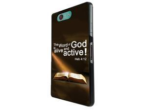 745 - Bible Word of God Alive and Active Design Sony Xperia Z1 Compact / Mini Hard Plastic Case Back Cover - Black