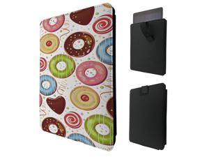 """ipad pro 12.9"""" / Macbook Air 11 / Macbook retina 12 Quality Pouch portefeuille Poche Coque  Case - Tab sortieC0281 - Cool Full Donut Doodle Collage Food Love Sweet Candy Heart Illustration Yum Yum"""
