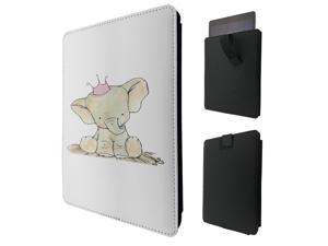 """ipad pro 12.9"""" / Macbook Air 11 / Macbook retina 12 Quality Pouch portefeuille Poche Coque  Case - Tab sortie980 - Cool Baby Elephant Cartoon Kawaii Love Nature Crown"""
