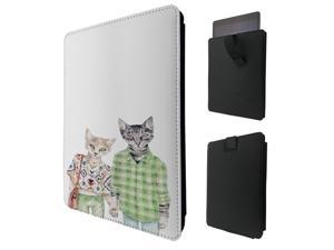 """ipad pro 12.9"""" / Macbook Air 11 / Macbook retina 12 Quality Pouch portefeuille Poche Coque  Case - Tab sortieC0852 - Cool Cartoon Human Cats Kittens Feline Pets Clothing Love"""