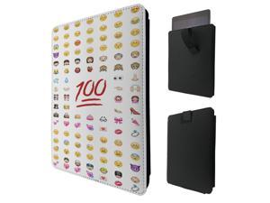 """ipad pro 12.9"""" / Macbook Air 11 / Macbook retina 12 Quality Pouch portefeuille Poche Coque  Case - Tab sortie624 - Cool Smiley Faces Emoji Funky"""
